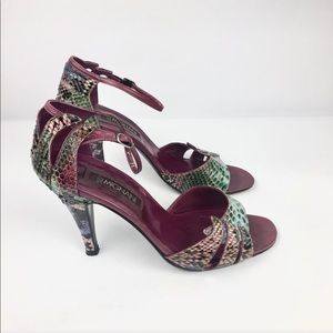 Shoes - Vintage 7.5 M Pump Ankle Strap By Mignani Italy
